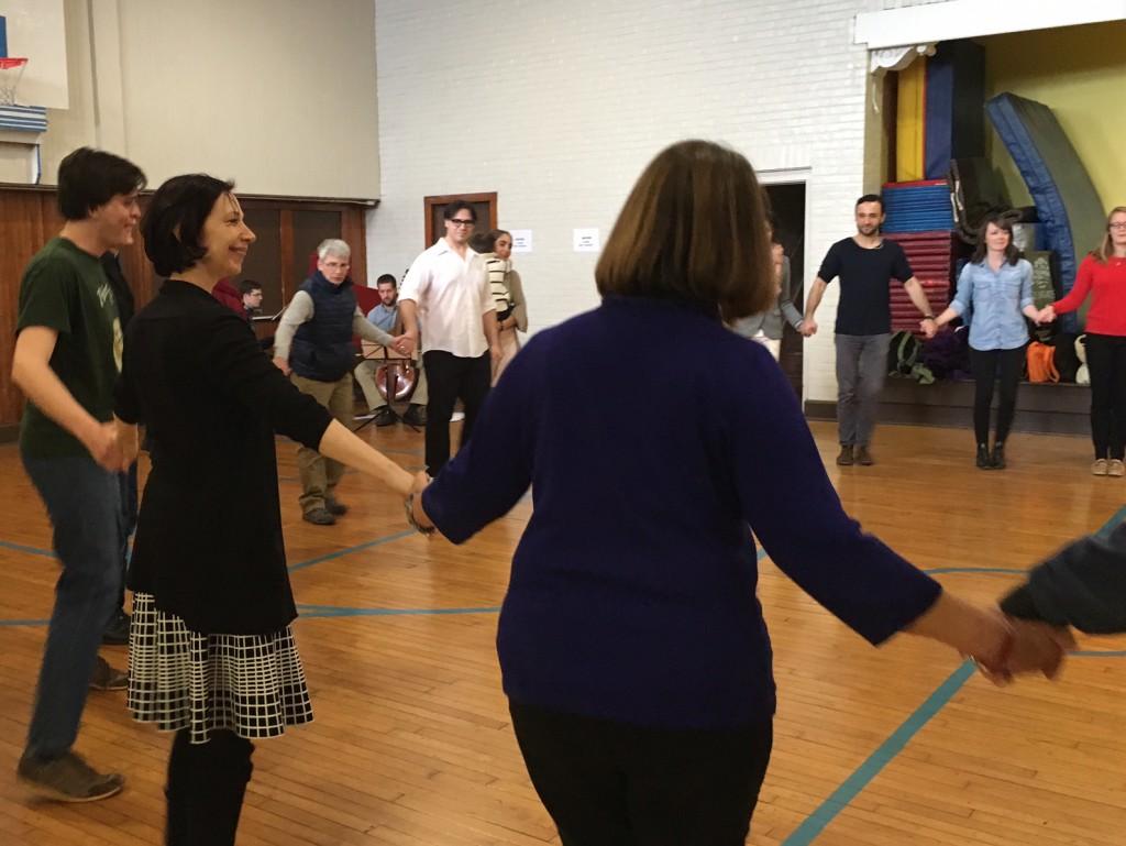 Julie Andrijeski led a Baroque Dance Workshop